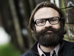Jens Blendstrup på Holstebro Bibliotek. Foto: Miklos Szasbo