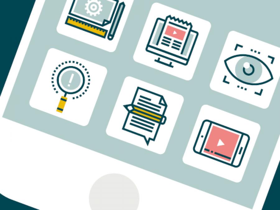App-Café for ordblinde og usikre læsere på Holstebro Bibliotek